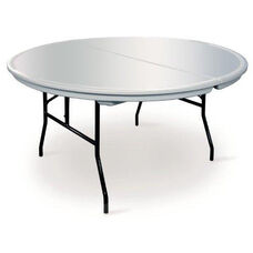 Commercialite Round Polyethylene Folding Table with Locking Legs - 60