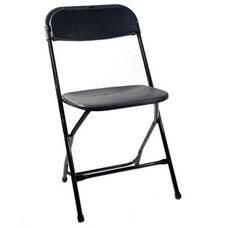 500 lb. Max Poly Performance Folding Chair - Set of 6 - Black