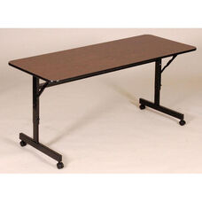 Adjustable Height Rectangular EconoLine Melamine Flip Top Table - 24''D x 60''W