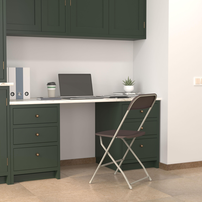 Beau Capacity Premium Brown Plastic Folding Chair