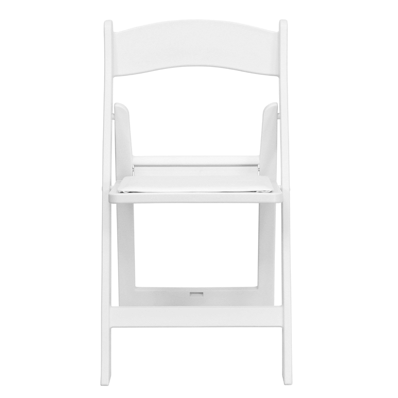 Images. HERCULES Series 1000 Lb. Capacity White Resin Folding Chair ...