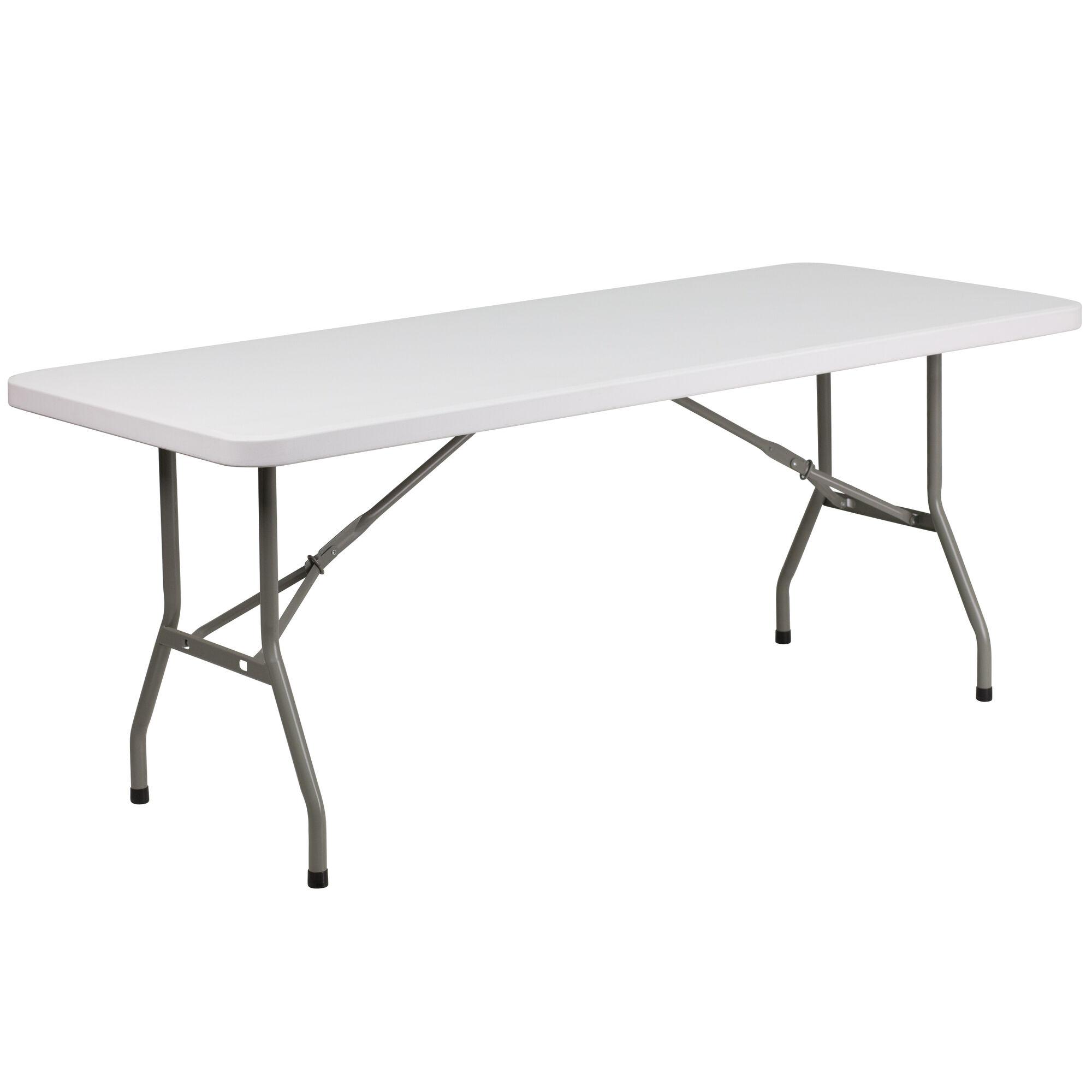 Flash Furniture 30 W X 72 L Granite White Plastic