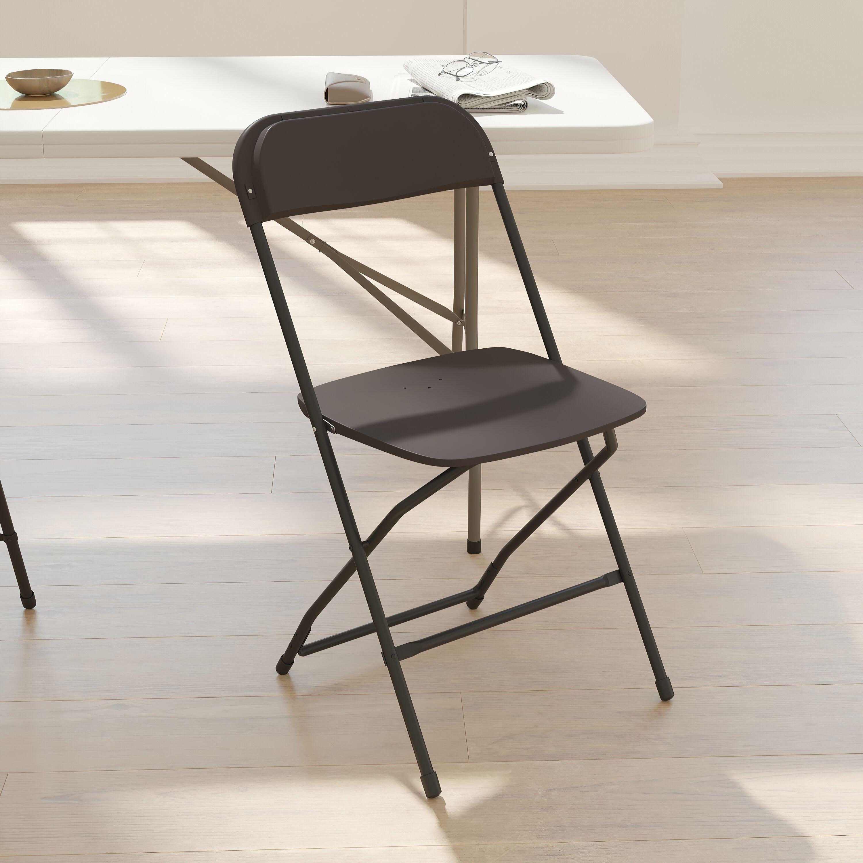 Flash Furniture HERCULES Series 800 Lb. Capacity Premium Black Plastic Folding  Chair LE L 3 BK GG | FoldingChairs4Less.com