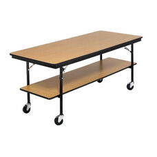 Stained and Sealed Plywood Mobile Utility Table - 30