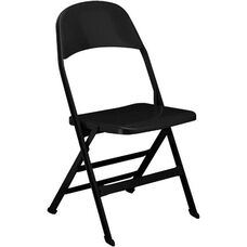 2000 Series All Steel Folding Chair with B Back Style in Black