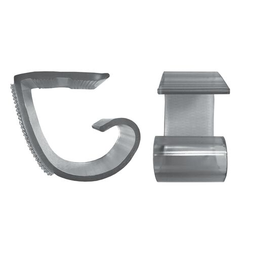 "Our Polycarbonate ""KV"" Skirting Clip for 5/8"" to 1 1/4"" Edge Tables - 100 Per Pack is on sale now."