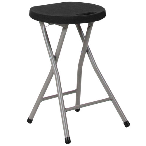 Our Foldable Stool with Black Plastic Seat and Titanium Frame is on sale now.