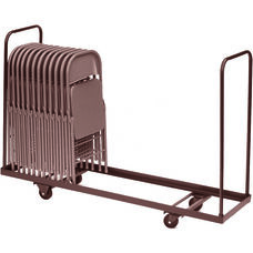 Welded Iron Folding Chair Truck with 4'' Casters and Handles - 19''D x 72''W