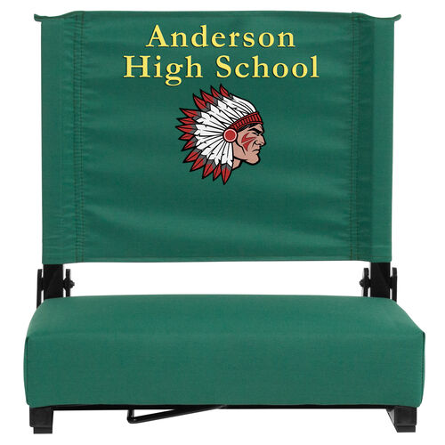 Our Embroidered Grandstand Comfort Seats by Flash with Ultra-Padded Seat in Hunter Green is on sale now.