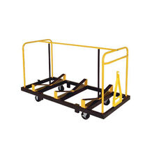 High Capacity Steel Frame Seminar Table Truck with Steel Casters - 32.5