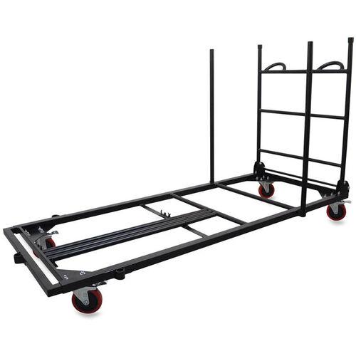 Lorell Rectangular Folding Table Trolley Cart 30