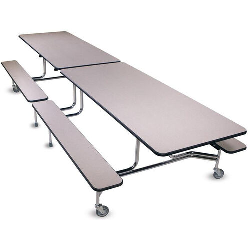 Our Foldable Rectangular Cafeteria Table with 4 Attached Bench Seats - 144