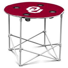 University of Oklahoma Team Logo Round Folding Table