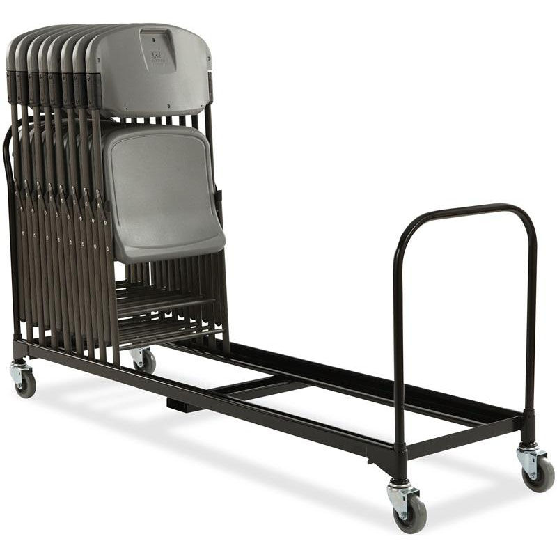 Wonderful Rough U0027N Ready 34 Chair Capacity Folding Chair Cart   Black