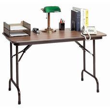 Keyboard Height Rectangular Melamine Top Folding Table - 24