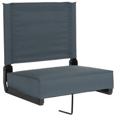 Grandstand Comfort Seats by Flash with Ultra-Padded Seat in Dark Blue