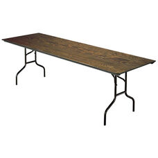 E Series Quick Ship Rectangular Plywood Core Folding Table - 30