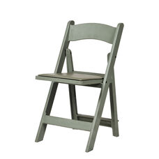 1000 lb. Max Resin Folding Chair - Set of 4 - Flint Gray