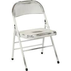 OSP Designs Bristow Distressed Steel Folding Chair - Set of 2 - Antique White