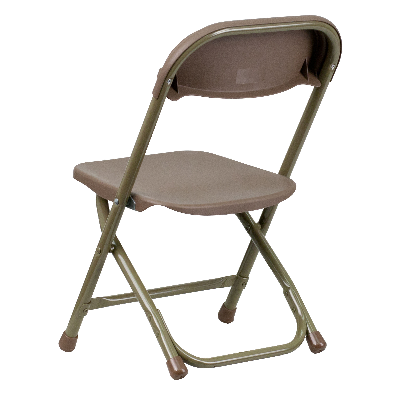 Flash Furniture Kids Brown Plastic Folding Chair Y KID BN GG |  FoldingChairs4Less.com