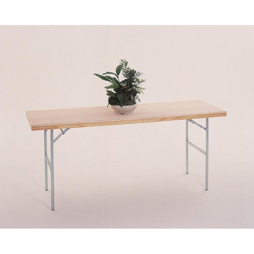 Fixed Height Display Table with Pine Flush Edge and Plywood Top - 48