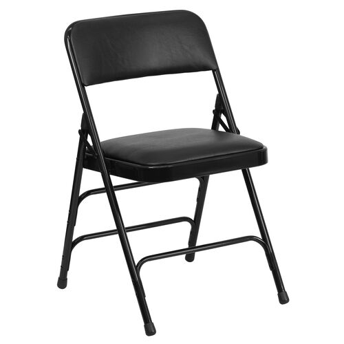 Our HERCULES Series Curved Triple Braced & Double Hinged Upholstered Metal Folding Chair is on sale now.