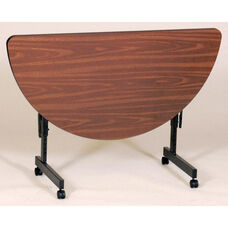 Adjustable Height Half Round Econoline Melamine Flip Top Table 24