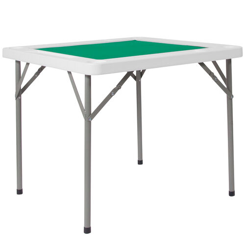 Our 3-Foot Square Granite White Folding Game Table with Green Playing Surface and 4 Cup Holders is on sale now.