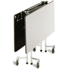ADA Compliant Fold-N-Roll Square Laminate Cafeteria Table with Casters - 60