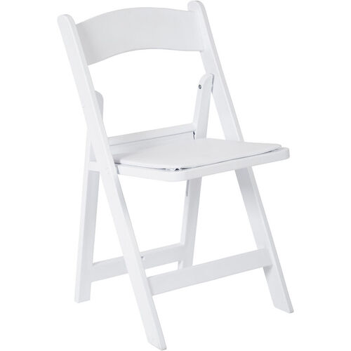 Our Work Smart Wedding Folding Chair with Resin Frame and Padded Seat - Set of 4 - White is on sale now.