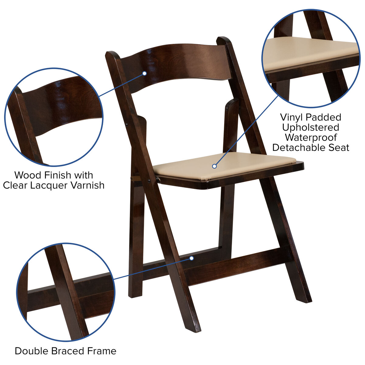 Awe Inspiring Hercules Series Fruitwood Wood Folding Chair With Vinyl Padded Seat Pabps2019 Chair Design Images Pabps2019Com