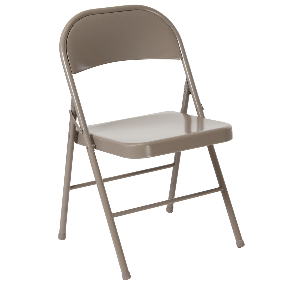Miraculous Hercules Series Double Braced Gray Metal Folding Chair Caraccident5 Cool Chair Designs And Ideas Caraccident5Info