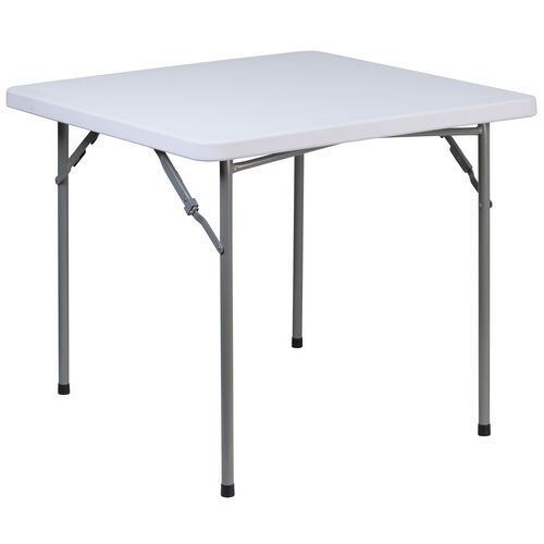 Our 3-Foot Square Granite White Plastic Folding Table is on sale now.