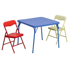 Kids Colorful 3 Piece Folding Table and Chair Set