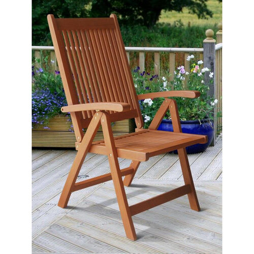Our Malibu Outdoor Patio Wood 5 Position Reclining Armchair is on sale now.
