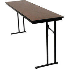 C-Leg Rectangular Training Table with Bumper T Molding and Laminate Top - 18
