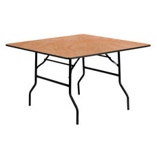 4-Foot Square Wood Folding Banquet Table