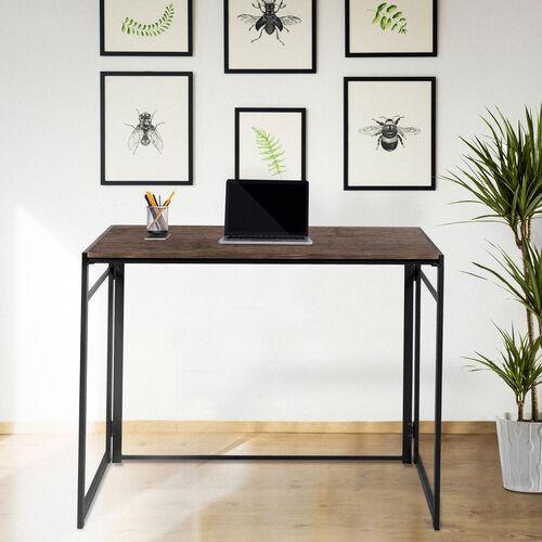 "Rustic Home Office Folding Computer Desk - 40"""