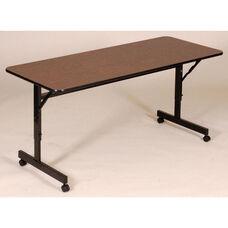 Adjustable Height Rectangular EconoLine Melamine Flip Top Table - 24''D x 48''W