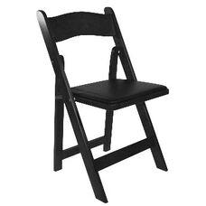American Classic Black Wood Folding Chair
