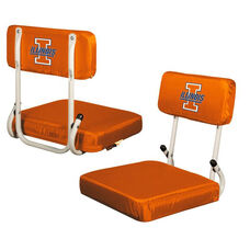 University of Illinois Team Logo Hard Back Stadium Seat