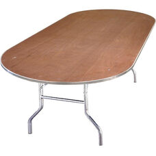 Standard Series Race Track Banquet Table with Plywood Top - 96