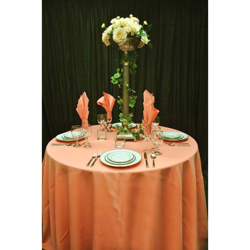 Charmant ... Our 108u0027u0027 Renaissance Stain Resistant Series Round Tablecloth   Peach  Is On Sale Now