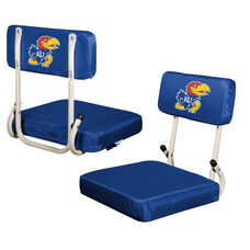 University of Kansas Team Logo Hard Back Stadium Seat
