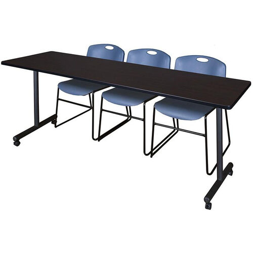 Regency Seating Kobe W X D Mobile Laminate Training Table - Regency conference table