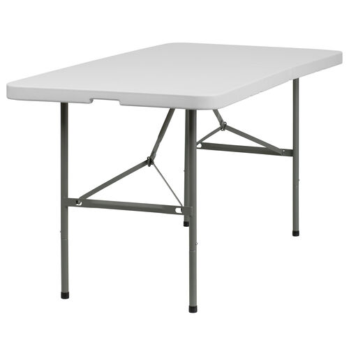 Our 5-Foot Bi-Fold Granite White Plastic Folding Table is on sale now.