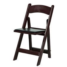1000 lb. Max Resin Folding Chair - Set of 4 - Red Mahogany