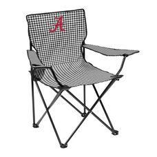 University of Alabama Houndstooth Team Logo Folding Quad Chair