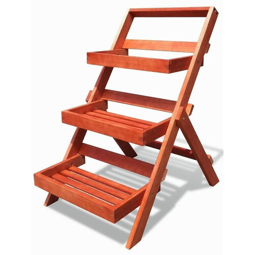 Our Malibu Outdoor Three-Layer Wood Folding Garden Plant Stand with Box Shelves is on sale now.