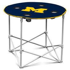 University of Michigan Team Logo Round Folding Table